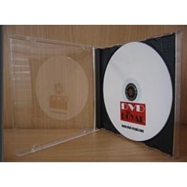 Boitier slim en cristal pour CD avec un fond noir