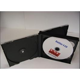 Boitier en cristal pour 4 CD