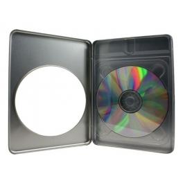 Boitier DVD métal avec fenetre