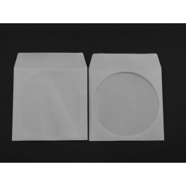 Pochette papier pour 1 CD, avec fenetre et rabat adhésif