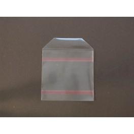 Pochette plastique adhésive (2 bandes)