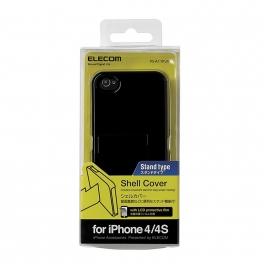 ELECOM Etui de protection avec support pour iPhone 4S - noir